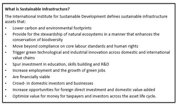 what is sustainable infrastructure